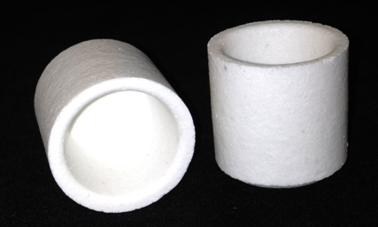 Alpha Resources Africa Product AR3818F in Ceramic Crucibles under Sample Containment.